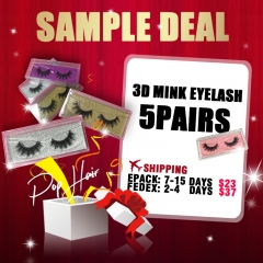 5pairs 3d mink lashes Sample order