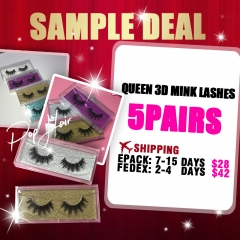 Queen 3d mink lashes 5pairs Sample order