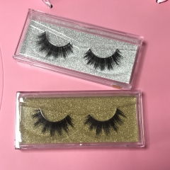 mink 3d lashes & queen 3d mink lashes with clear rectangle case