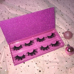Eyelash book, 4pairs each purple box