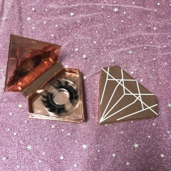Rose Gold Diamond rectangle case lashes deal (1-1000pcs)