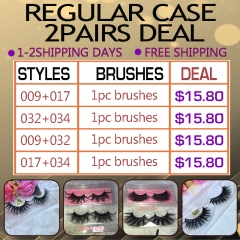 2Pairs lashes with regular box Only $15.8!! 3days Shipping!!
