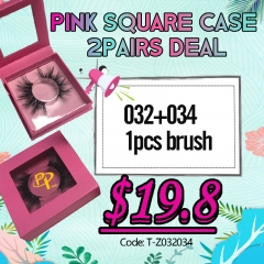 Pink sqaure case 2pairs deal, 3days shipping!!!