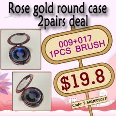 Rose gold round case 2pairs deal, 3days Shipping!!