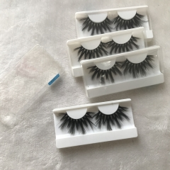 Regular mink F eyelashes in white box