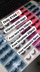 30pair eyelashes deal, can print logo on box!!