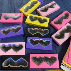 Mink 3d F eyelashes in colorful paper box, 50pairs Only $98!!!
